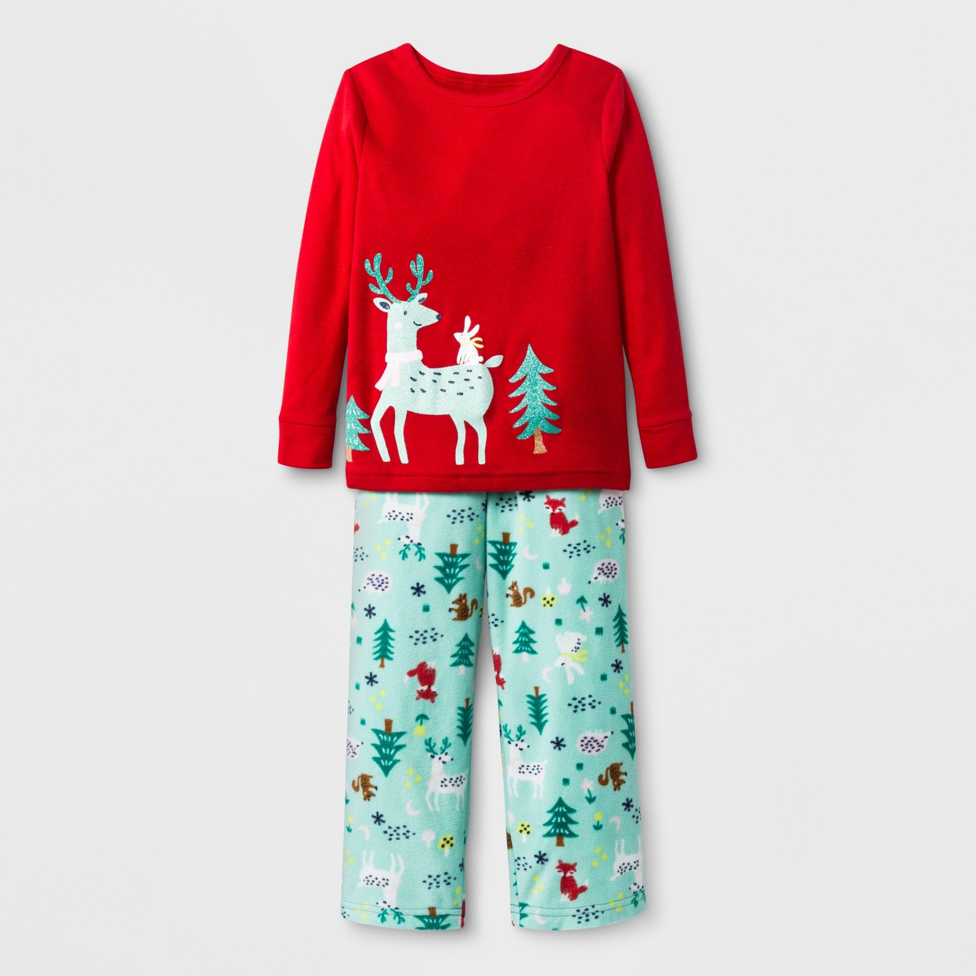 629cee400 Baby s 2pc Reindeer Pajama Set - Cat   Jack Red 18M