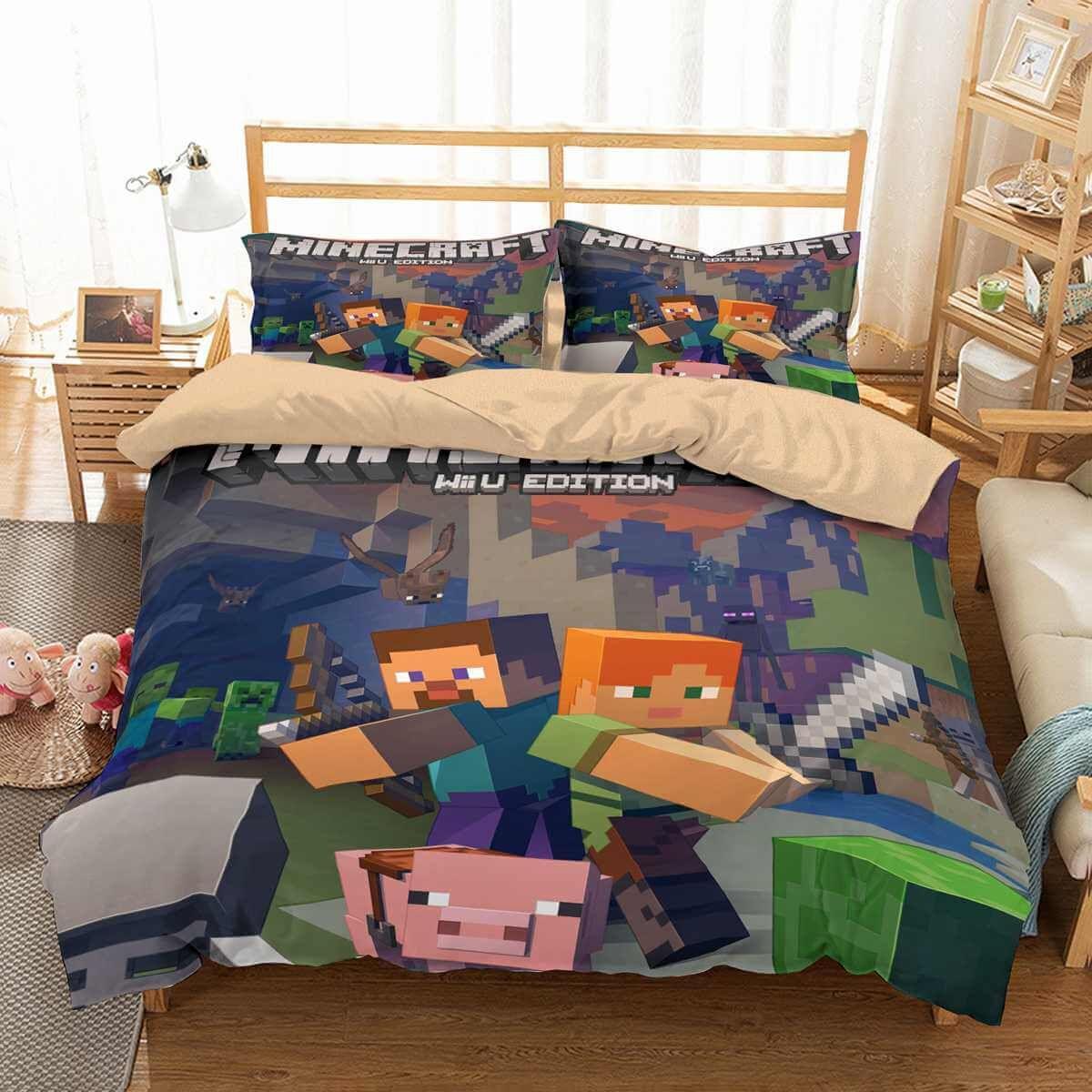 3D Customize Minecraft Bedding Set Duvet Cover Set Bedroom