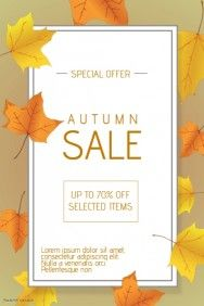 Autumn Fall Promotion Sale Flyer Template  Poster Templates