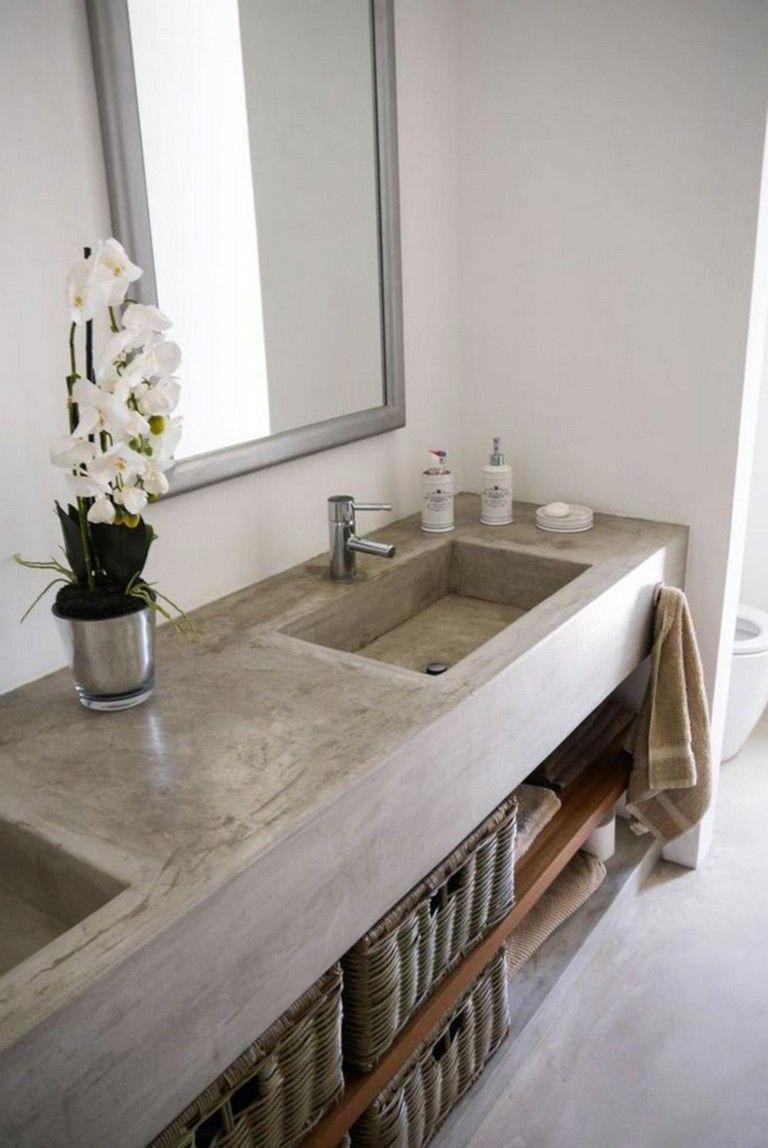 11 Top Concrete Countertops Ideas For Bathroom Bathroomideas Bathroomdesign Bathroomremod Concrete Countertops Bathroom Concrete Bathroom Countertop Design