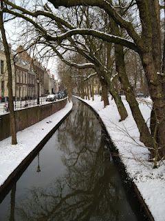"""""""Nieuwegracht"""" Utrecht with snow"""