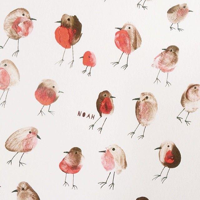 Maalaa lintuja...sormilla!