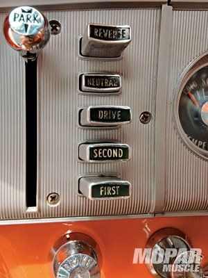 1954 Dodge Station wagon with push button shifter.  The Dart had this feature also.