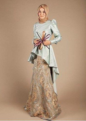 Koleksi Baju Busana Muslim Formal Elegan Terbaru 2016 Contoh Model Baju Muslim Terbaru 2016 Gaun Hijab Gaun Kebaya Jilbab
