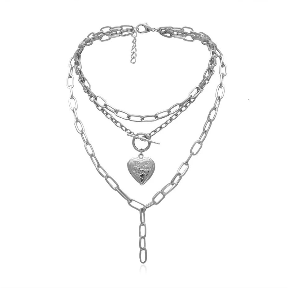 Heart Lock Chain Necklace Chunky Chain Necklaces Chain Statement Necklace Pearl Choker Necklace