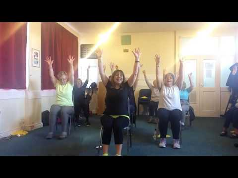 82 Seated Chair Exercise Hokey Cokey Youtube Chair Exercises Exercise Fitness Class