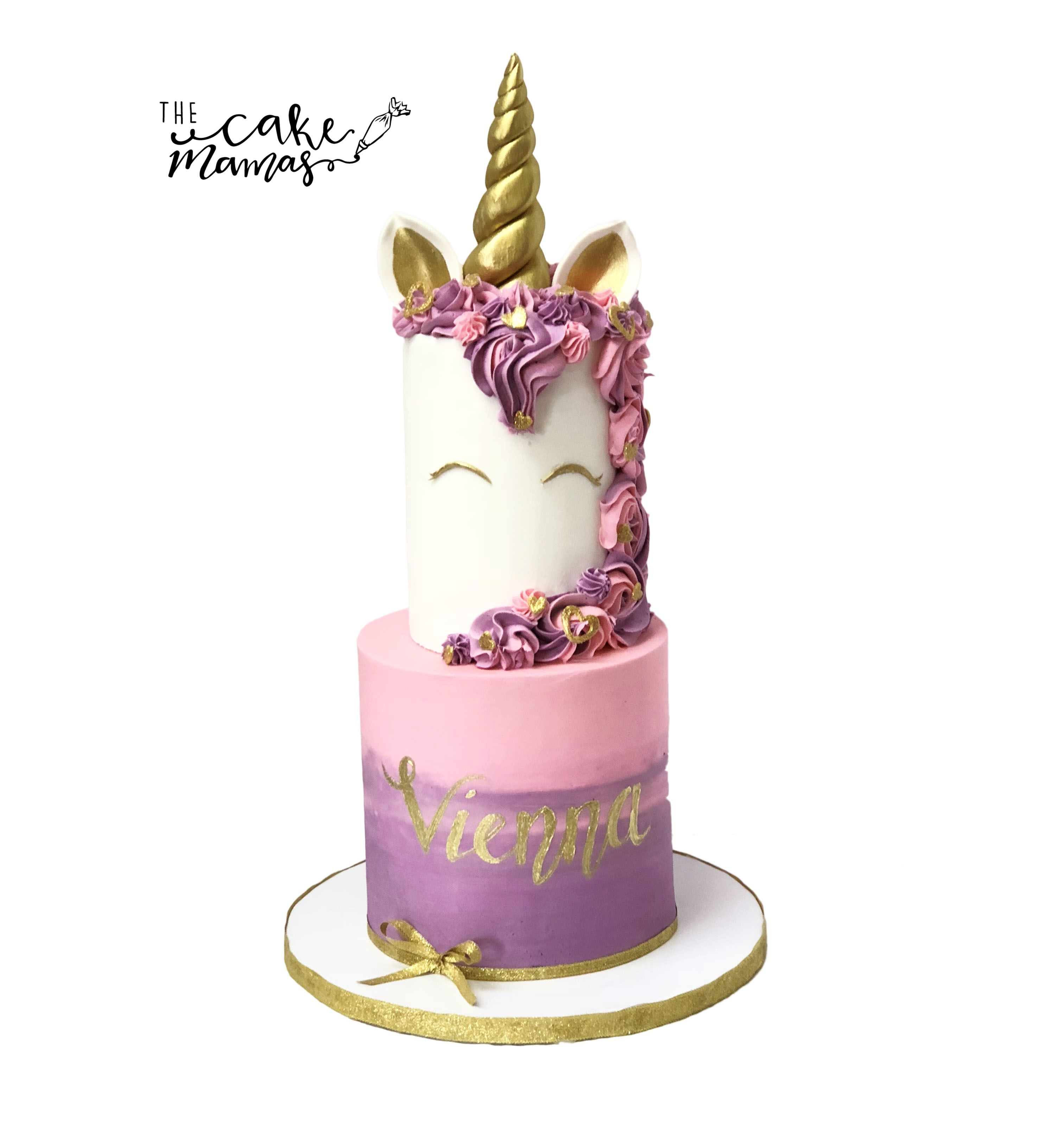 Ombre Pink And Purple Unicorn Cake Call Or Email To Order Your Birthday Today Gold Buttercream