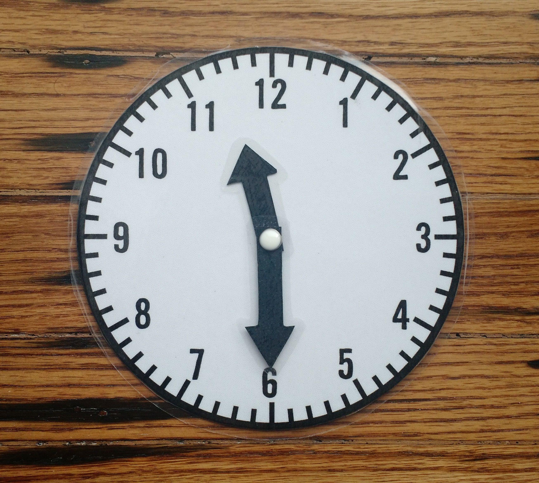Make A Homemadeog Clock Print Template On Card Stock