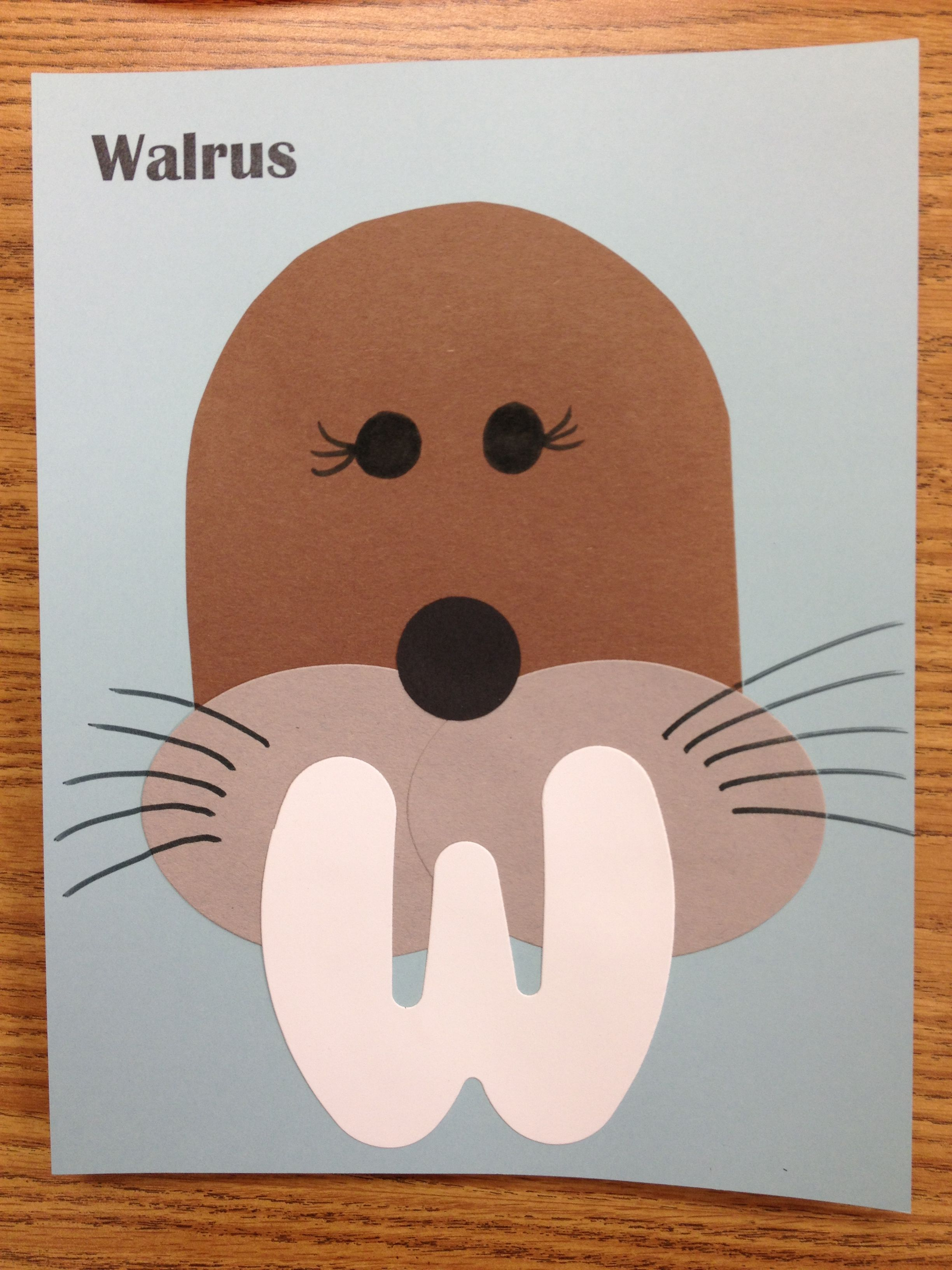 Walrus Preschool Craft