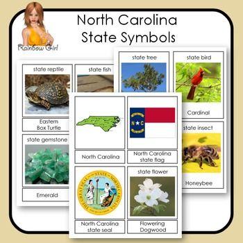 North Carolina State Symbols Cards | US states, Cards and North ...