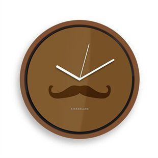 Wall Clock Mustache by Kikkerland | Kitchen & Home Gifts | chapters.indigo.ca