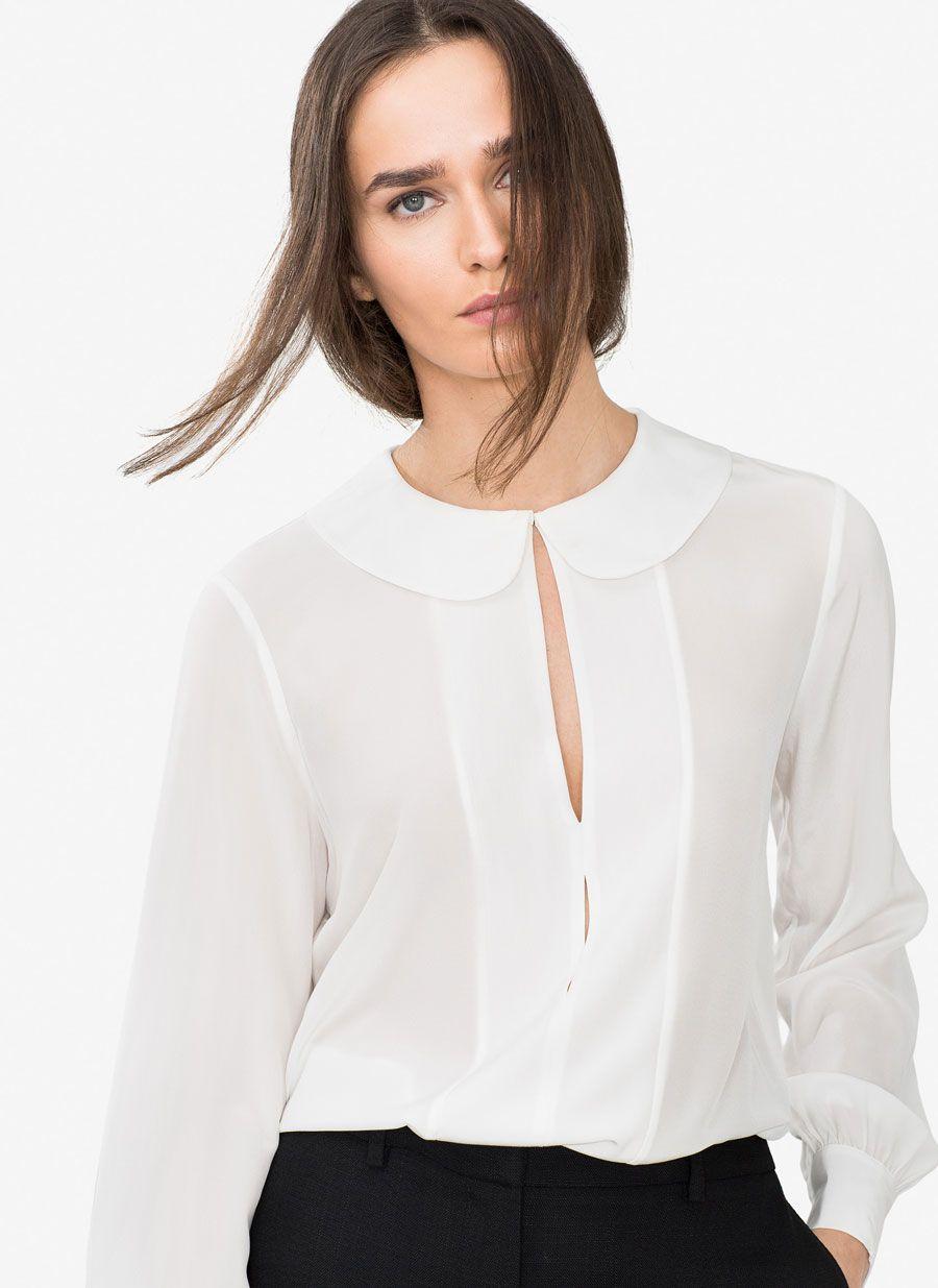 968be2427 Camisa cuello bebé - Ver todos - Colección - Uterqüe España