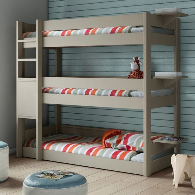 three tier bunk bed | triple bunk beds, solid pine and bunk bed