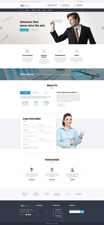 Business Solutions  Services Website Template Themes
