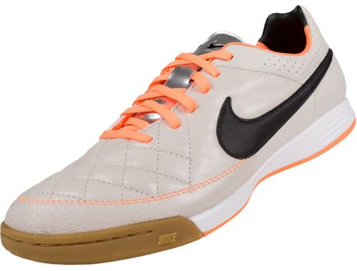 cbf3e840269 Nike Tiempo Legacy IC Indoor Soccer Shoes- Desert Sand and Atomic Orange...Available  at SoccerPro.