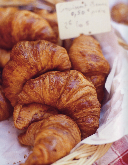 Dipping fresh buttery croissants and pain au chocolat from Bonjour Brioche in my coffee with Melanie, Jonah & Papa.