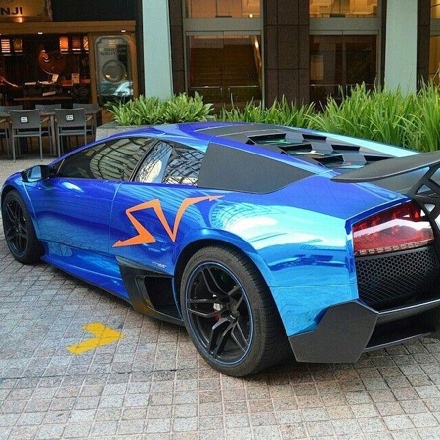 Chrome Blue Super Veloce Lamborghini Murcielago Awesome Custom