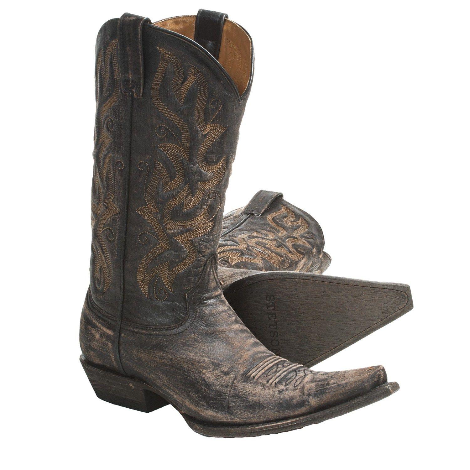 Stetson Fashion Snip Toe Cowboy Boots (For Men)