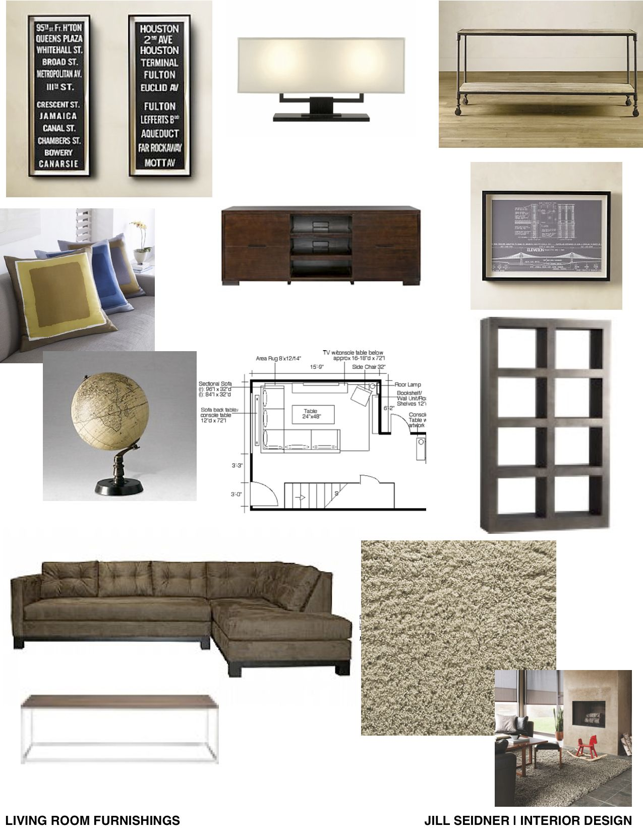 Furnishing Concept Board For Living Room With Images Interior