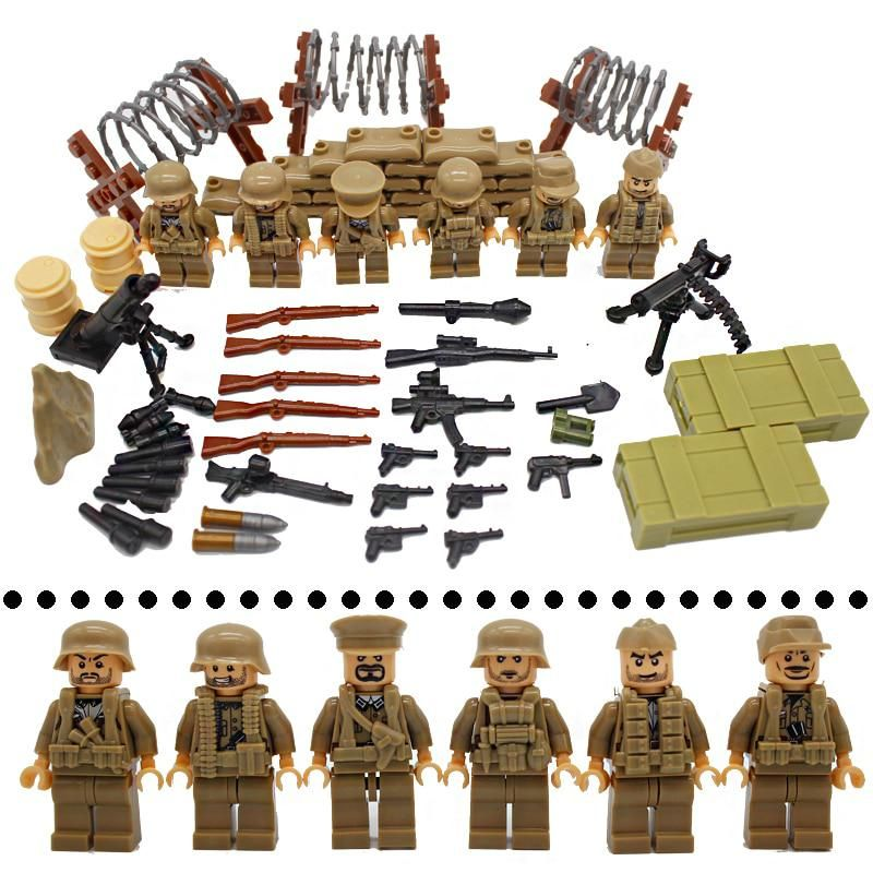 Military Modern Survival Action Building Blocks Bricks Models Sets Figures Toys