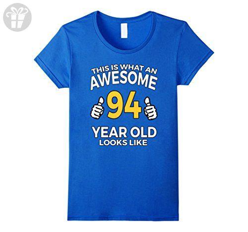 Womens 94 Year Old Birthday Gifts T Shirt For A Senior Man Or Woman Medium Royal Blue