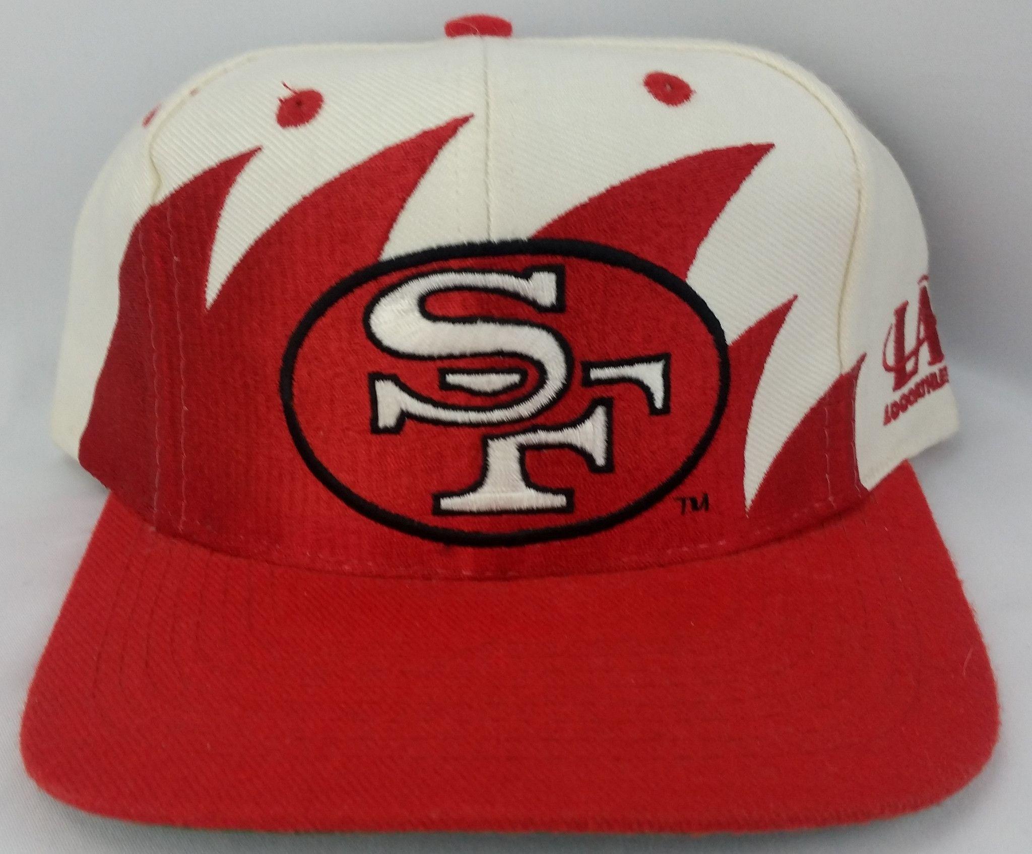 98bbdde327f79 usa san francisco 49ers vintage snapback logo athletic sharktooth hat nfl  pro line 40400 cac64