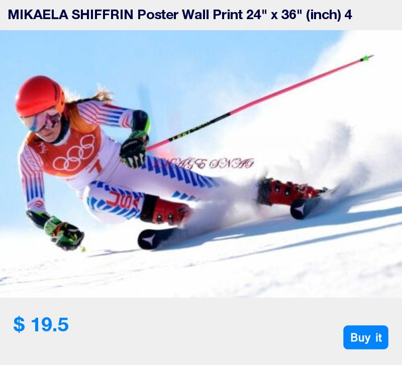 "inch 5 MIKAELA SHIFFRIN Poster Wall Print 24/"" x 36/"""