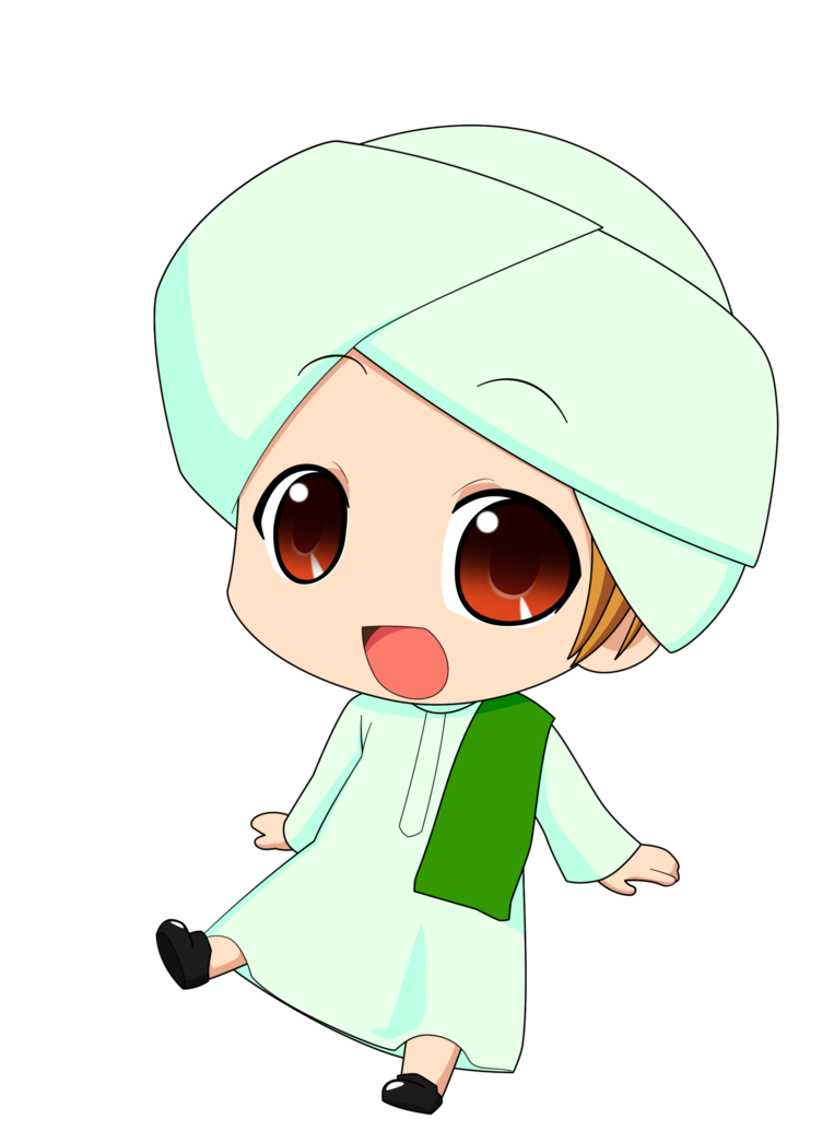 Chibi Muslimin 2 By Taj92 Deviantart Com On Deviantart Anime Muslim Islamic Cartoon Cartoon Clip Art