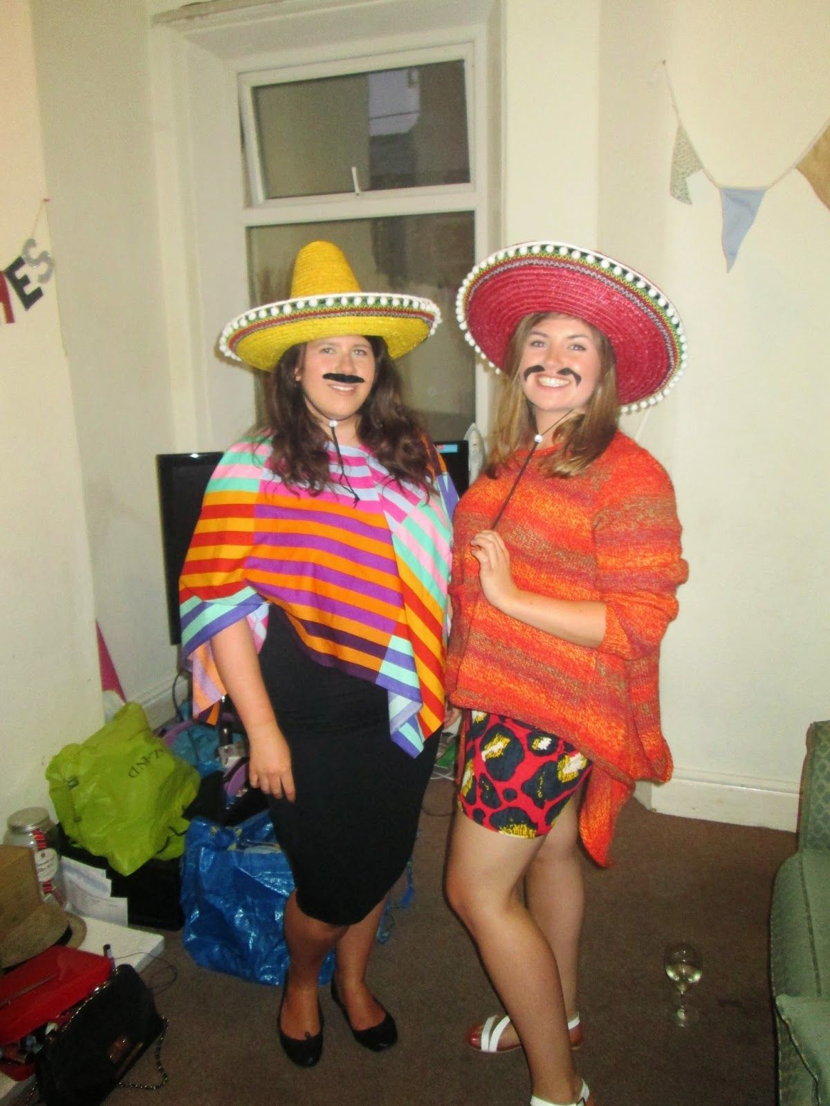 How to make Mexican Fancy dress costume party ideas. So easy and great fun!  sc 1 st  Pinterest : costume ideas on pinterest  - Germanpascual.Com