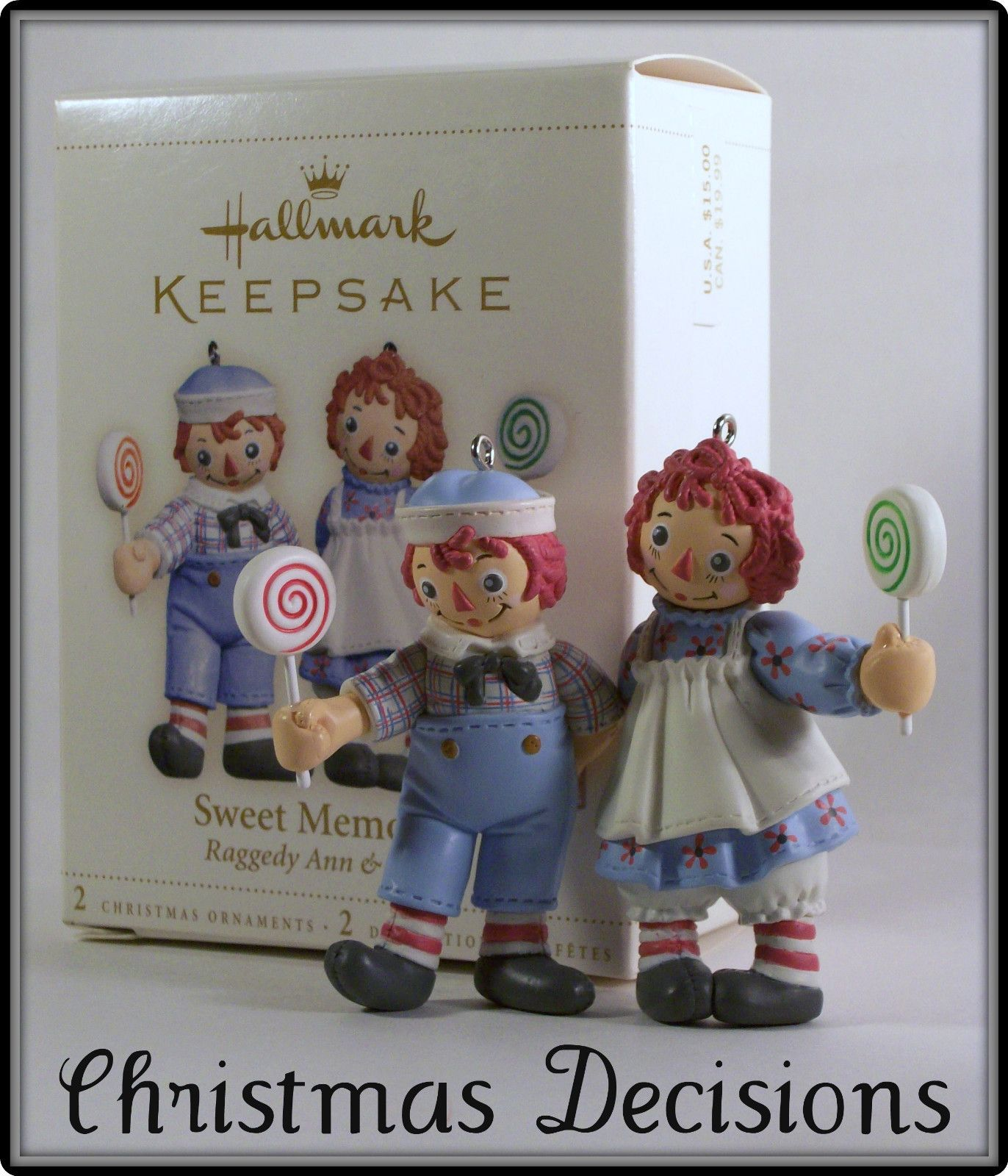 2006 Sweet Memories Christmas Ornament - Ann and Andy | Raggedy ...