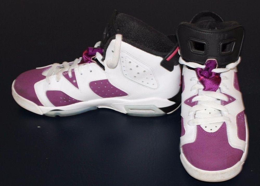 Air Jordan 6 5 Y GS White Vivid Pink Bright Grape Black | eBay