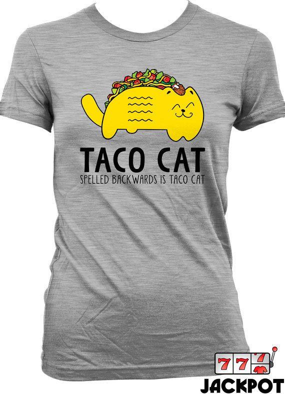 df8efa00e Funny Taco Shirt Cinco De Mayo T Shirt Taco Cat T Shirt Mexican Food Joke  Mens Ladies Tee MD-367