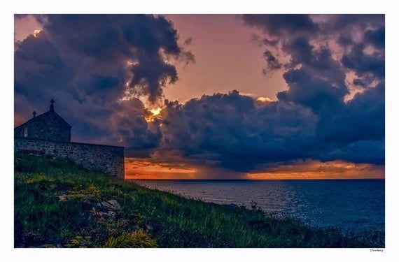 Fine art photography. St Ives Cornwall. Fine art photographic print. Wall Art. Cornish landscape photography. Sunset photography. Seascape. #nikolausbacken