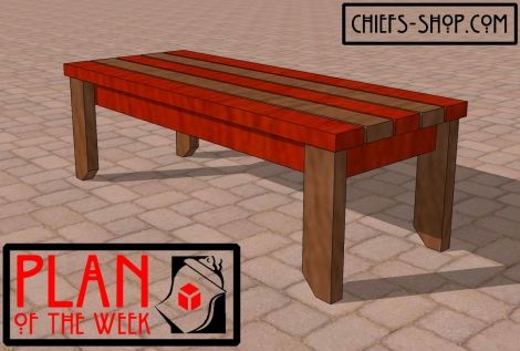 Plan Of The Week 2×4 Bench 2X4 Bench Outside Benches 400 x 300