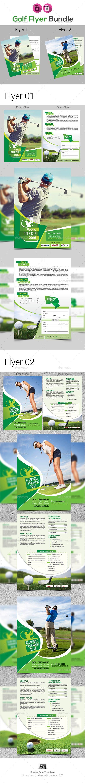 Golf Tournament Flyer Bundle Template