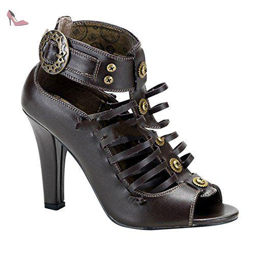 Demonia Tesla-05 - gothique Steampunk chaussures femmes 36-43: Amazon.fr:  Chaussures et Sacs