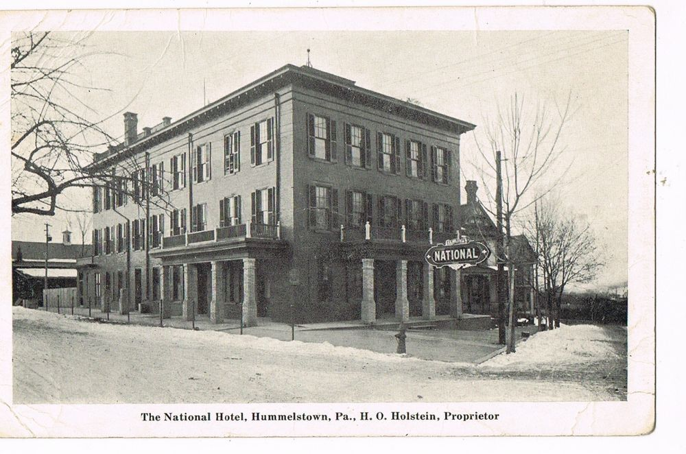 Unused Pre Linen Postcard The National Hotel Hummelstown Pa