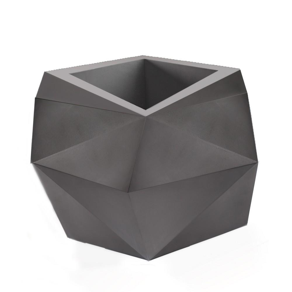 26'' Novelty Origami Tall Planter - Ash - Crescent Garden