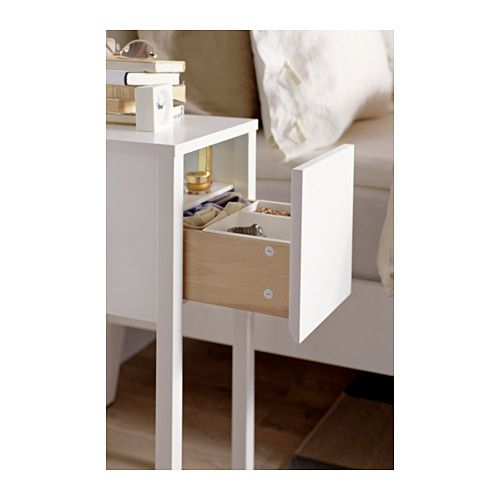 Nordli bedside table white 30x50 cm nightstands bedside for Ikea nightstand shelf