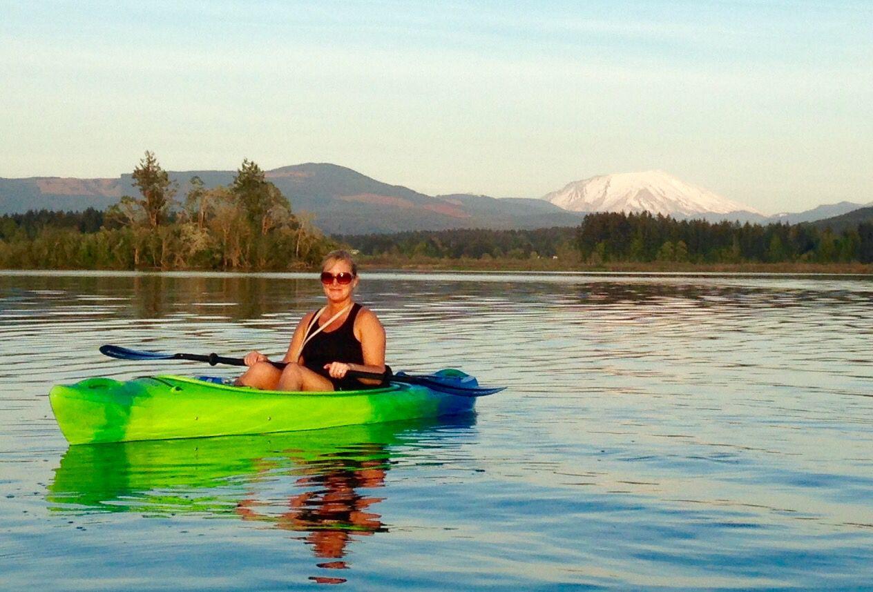 Kayaking Silver Lake, WA. Mt St Helen Kayaking, Places