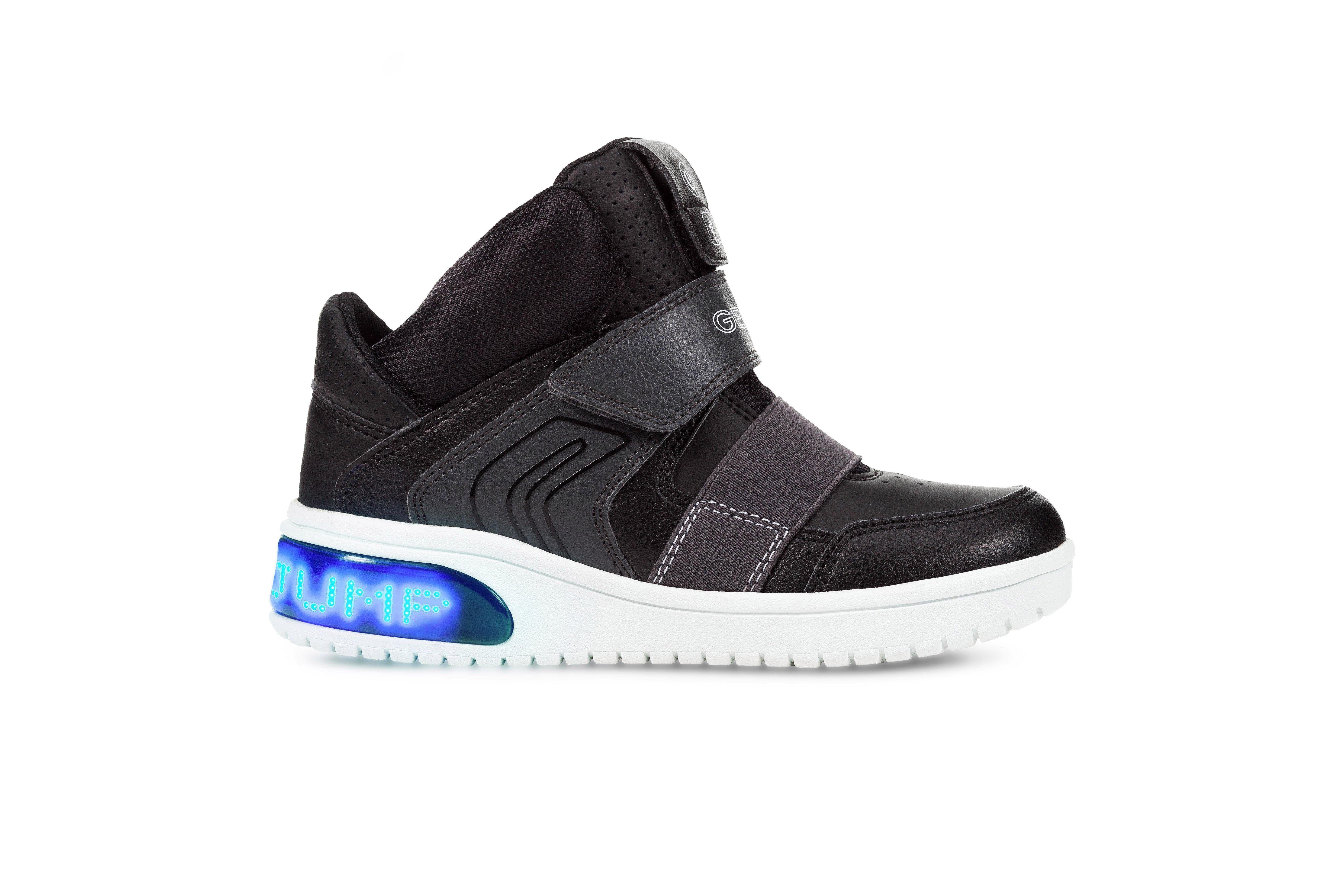 3e47a01624b629 JungenKinderKinderKinderJungen Geox Kids XLed Boy Sneaker mit cooler  Blinkfunktion via App-Steuerung schwarz