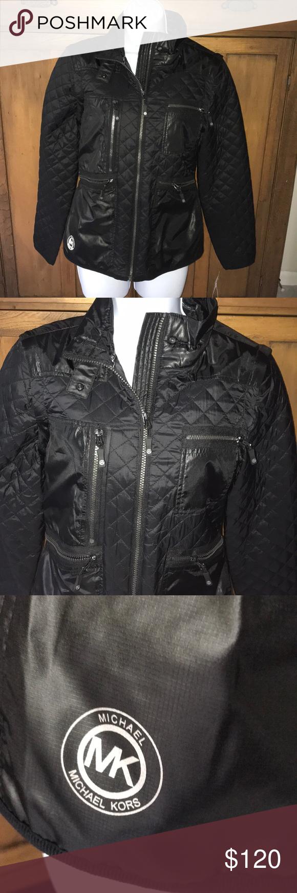 Nwt Blck Michael Kors Jacket W Removable Sleeves Michael Kors Jackets Clothes Design Michael Kors [ 1740 x 580 Pixel ]