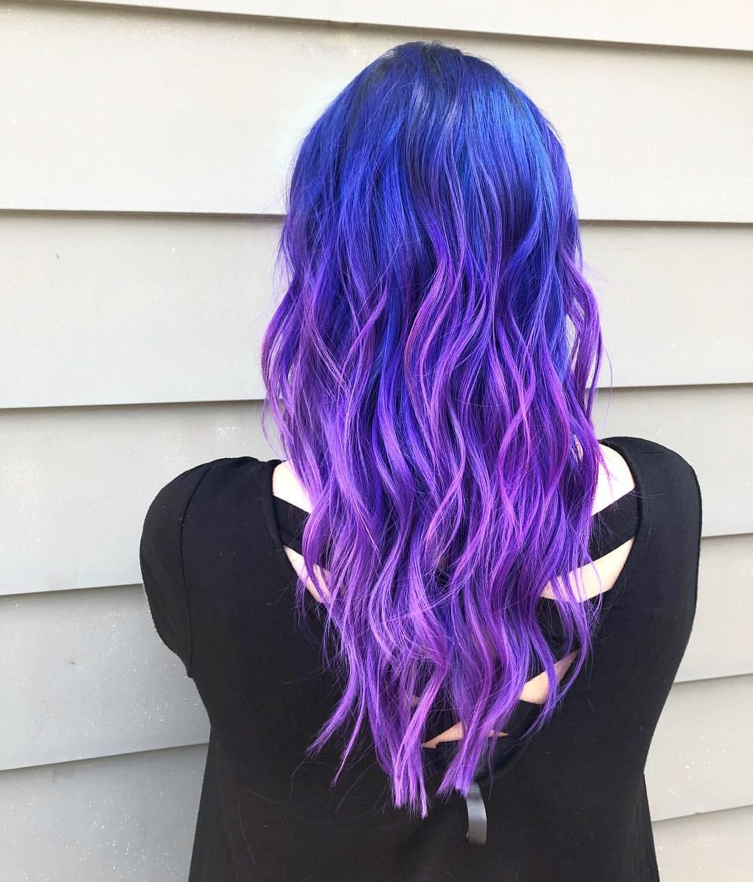 """@veronicaanowak """"Electric blue and purple ⚡️⚡️⚡️ styled ..."""