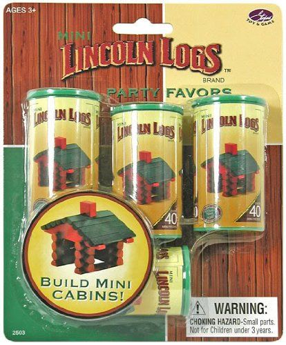 Mini Lincoln Logs Party Favors --ugh, They Are Out Of