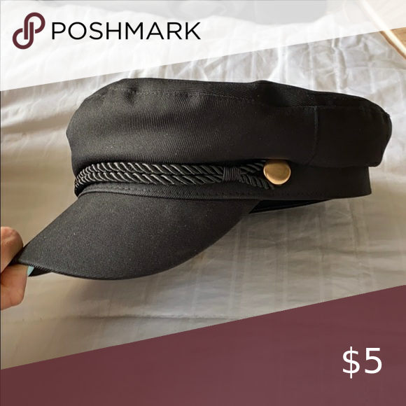 Black Hat Conductor Hat Women Accessories Hats Hats