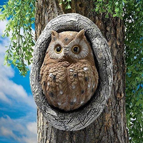 Owl Garden Statue Sculpture Animal Figurine Owls Statues Figurines Decor  Birds