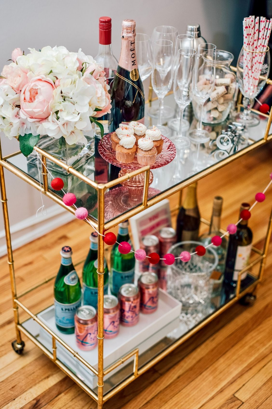 12 Best Bar Cart Ideas - How To Make Diy Custom Bar Cart | Ev için ...