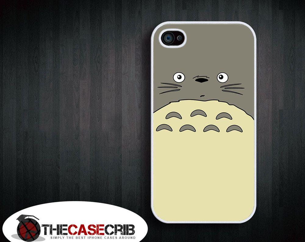Totoro My neighbor iPhone 4s and iPhone 4 White Hard case.. $14.00, via Etsy.