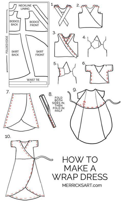 Midi Wrap Dress Sewing Tutorial | Merrick's Art