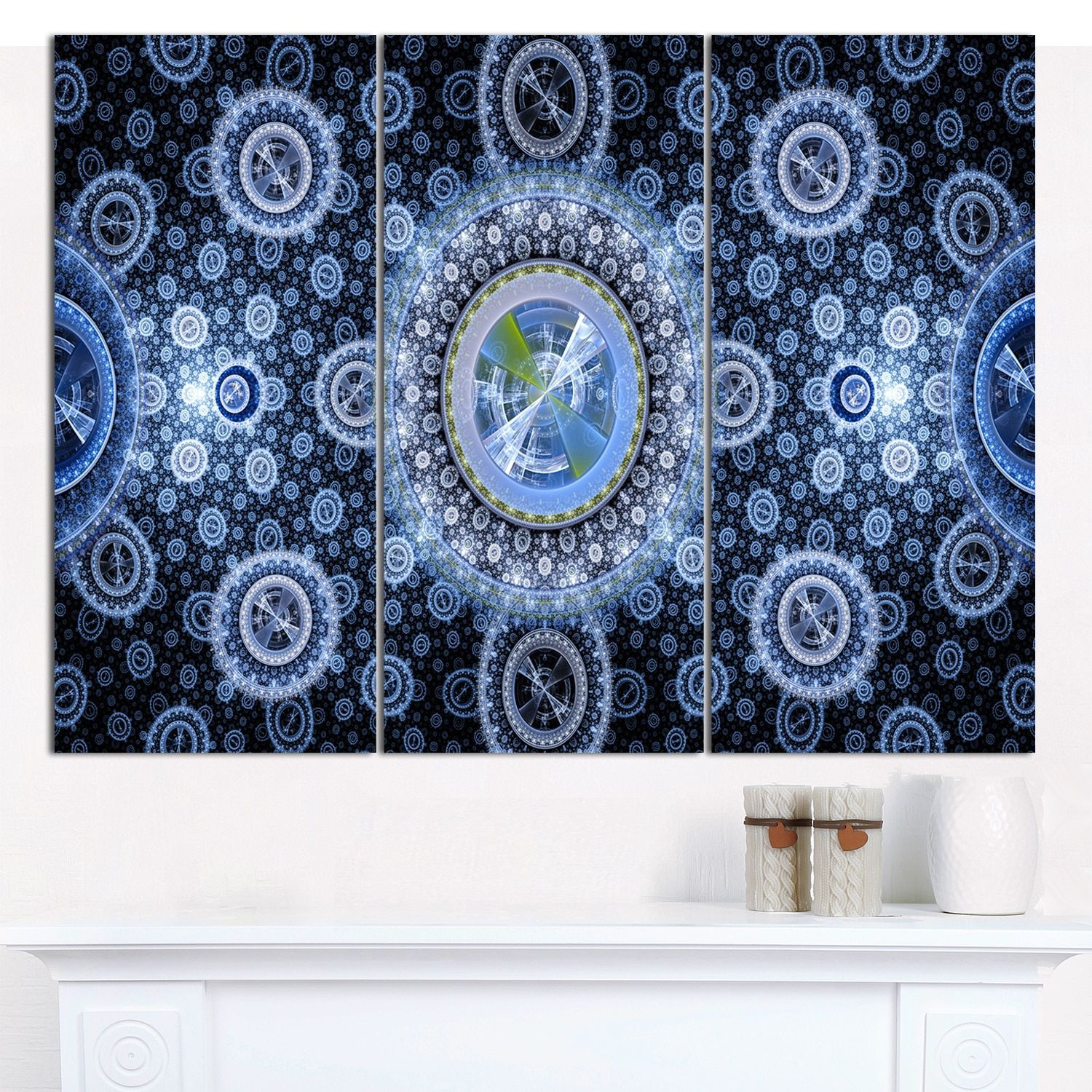 Shop For Designart Clear Blue Psychedelic Relaxing Art Abstract Wall